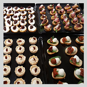 canapes delivered from London catering