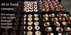 all in hand canapes catering