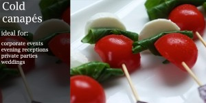 cold canapes catering menus