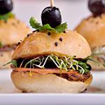 vegetarian mini burguer
