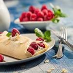 raspberry pancake fork buffet catering