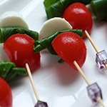 caprese salad cold canapes catering