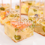 vegetarian frittata as finger buffets