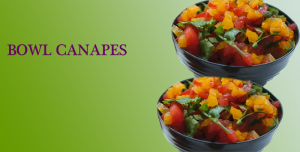 london canapes company create bowl canapes