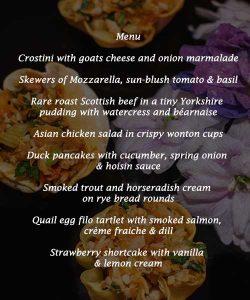 canapes menus spring season