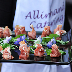 canapés platters all inhnad