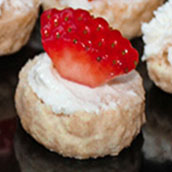 dessert christmas canapes