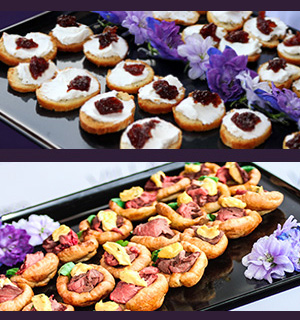 Outside catering companies all in hand catering london for Canape catering london
