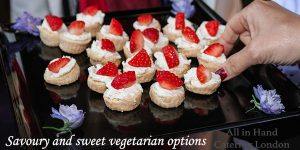 savoury vegetarian canapes