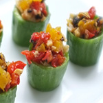 vegetarian cold canapes london