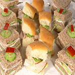 mini sandwiches and panini for afternoon tea