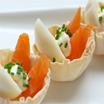 salmon tart canapes catering